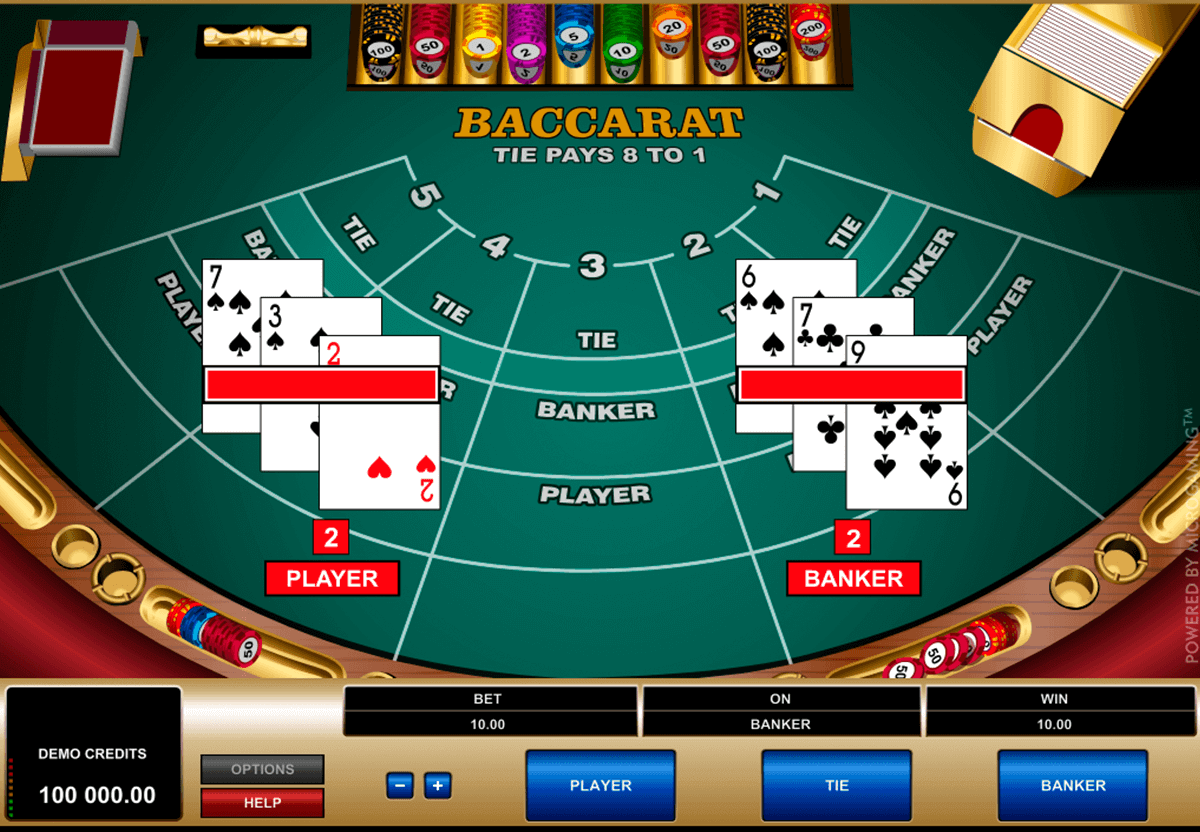 Online Baccarat play for real money or free
